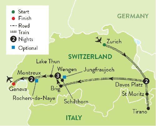 Swiss deluxe railways
