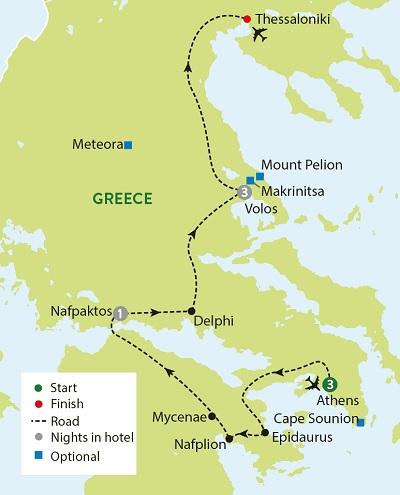 Mythical Greece - Athens, Delphi & Mycenae