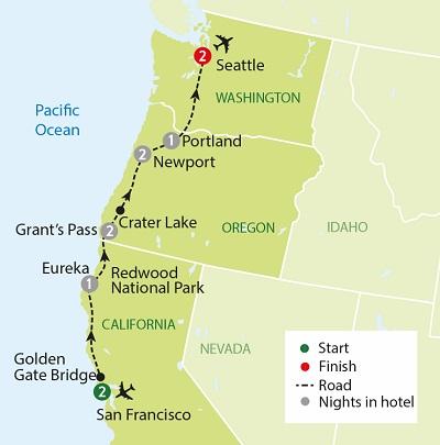 San Francisco & The Oregon Coast