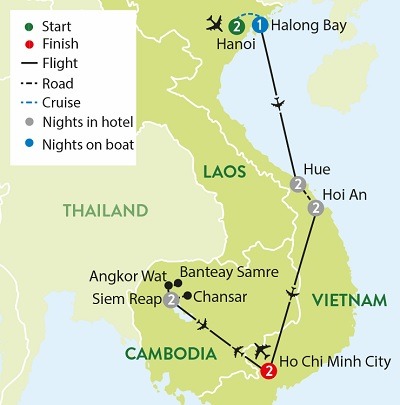 Vietnam and the Temples of Angko